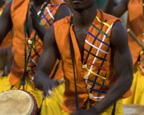 Djembe drummers at FESPACO 2009 opening ceremony